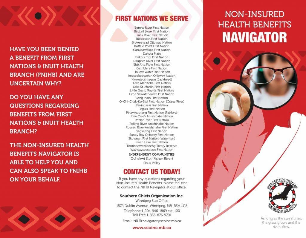 Non-Insured Health Benefits Navigator Information pamphlet